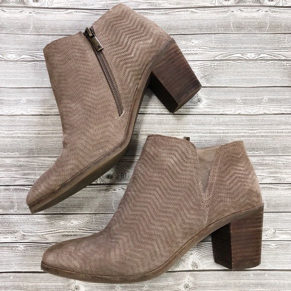 Lucky Brand Pickla Textured Suede Ankle